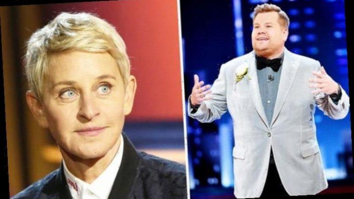 Ellen DeGeneres snub: Star's blunt put-down to James Corden exposed amid 'TV takeover'
