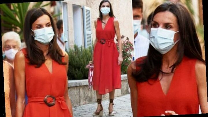 Queen Letizia dresses for summer in £250 red dress for Royal Family trip to Mallorca