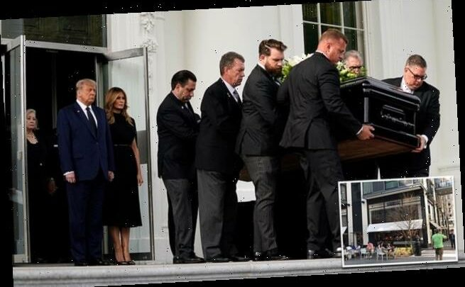 Mourner from Robert Trump's funeral 'punches restaurant worker'