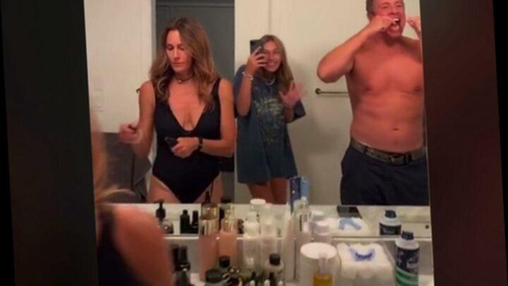 Shirtless Chris Cuomo flexes muscles in daughter's TikTok video