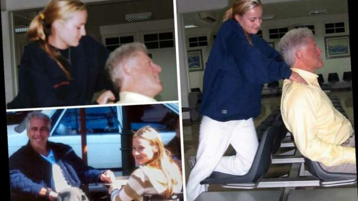 Creepy moment Bill Clinton gets massage from Epstein 'sex slave' after ride on his notorious 'Lolita Express' plane