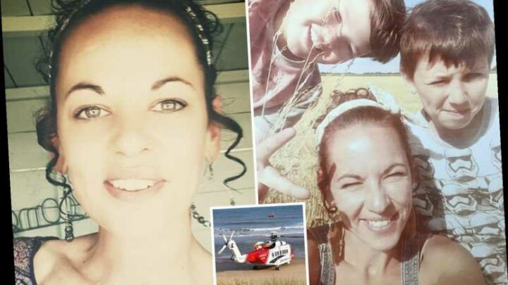Hero mum's distraught ex says 'the riptide has just taken her' after she drowned saving their son off Norfolk coast