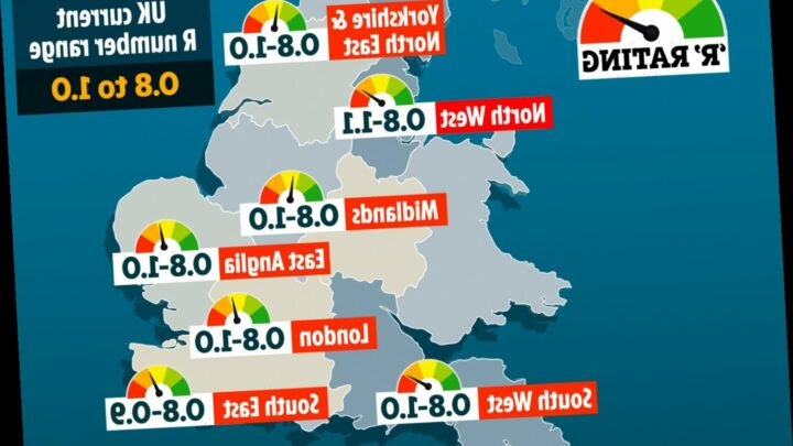 UK's coronavirus R rate stable – as East Anglia creeps up to 1