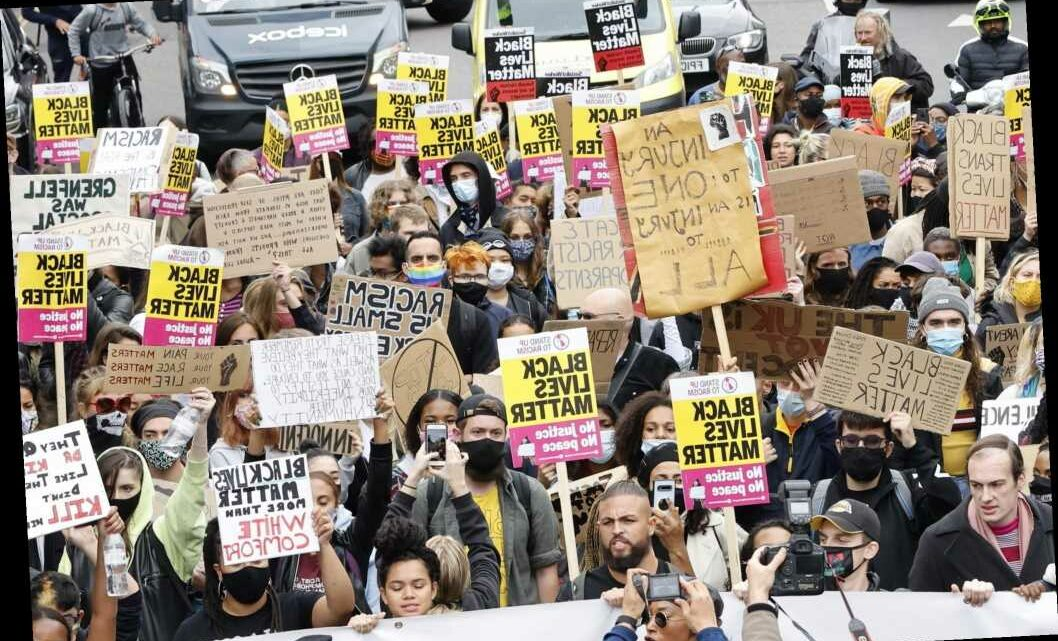 Black Lives Matter protesters march on cancelled Notting Hill Carnival route in demo backed by Extinction Rebellion