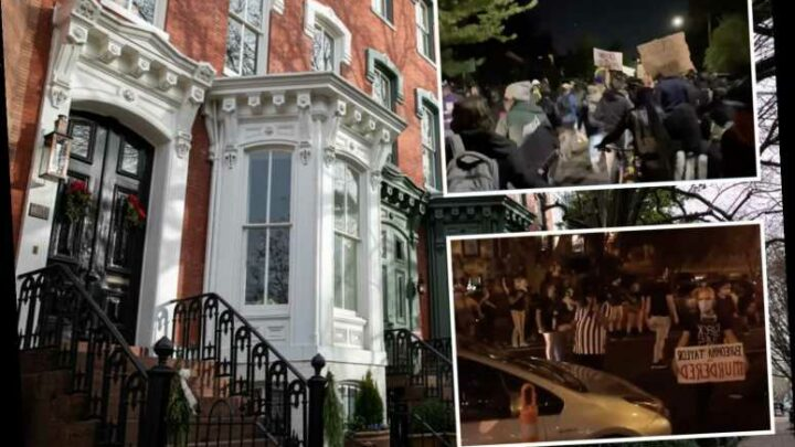 Black Lives Matter protesters march through neighborhood at night shouting 'wake your a** up' and banging pots