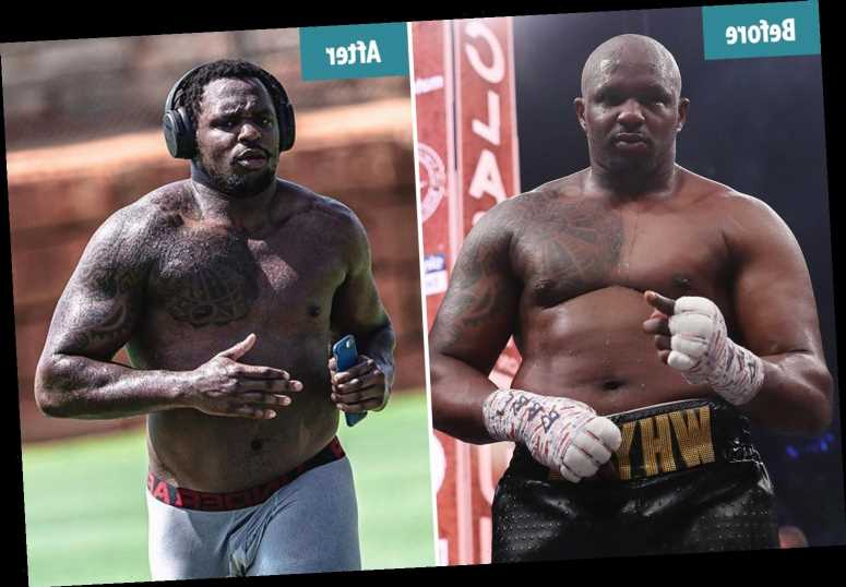 Dillian Whyte's amazing body transformation having spent lockdown training to shift career-heavy 19st 5lbs weight