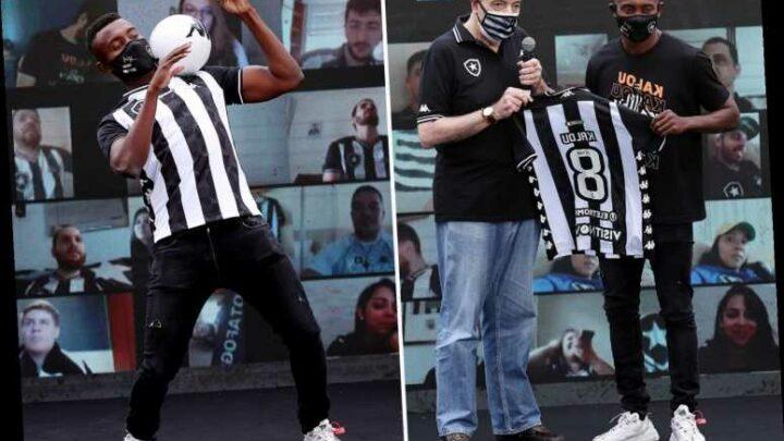Former Chelsea star Salomon Kalou unveiled at Botafogo after leaving Hertha Berlin on free transfer