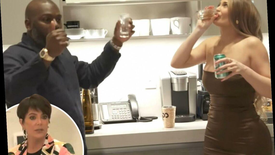 Kylie Jenner screams 'I'm taking a shot, let me live!' during wild bash at Kris Jenner's mansion in KUWTK sneak peek