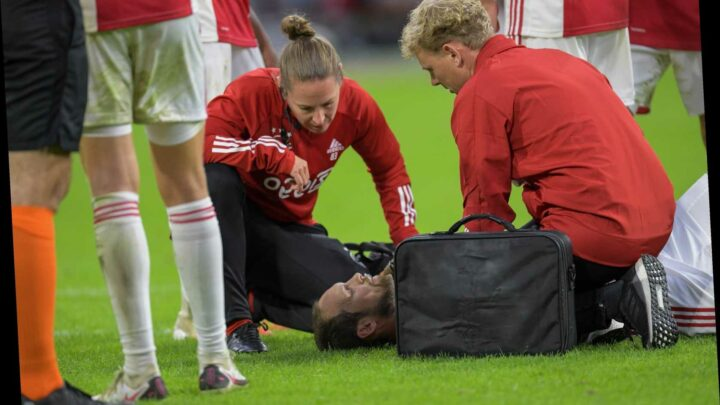 Ex-Man Utd ace Daley Blind COLLAPSES in Ajax friendly as defender's heart problems come back