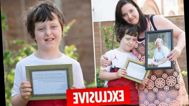 Boy, 9, who posted letter to great-gran in heaven gets heart-warming reply from ­caring post worker