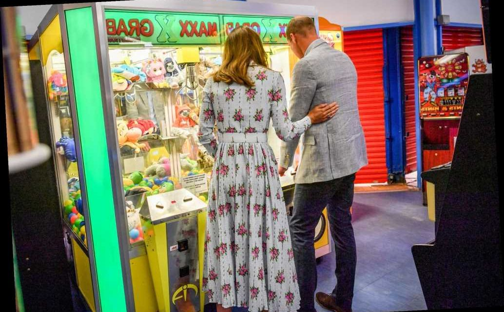 Kate Middleton and Prince William Share a Rare PDA Moment During Their Arcade Visit
