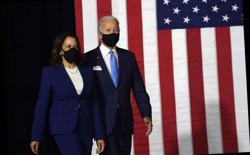 Joe Biden, VP pick Kamala Harris make first public appearance as running mates
