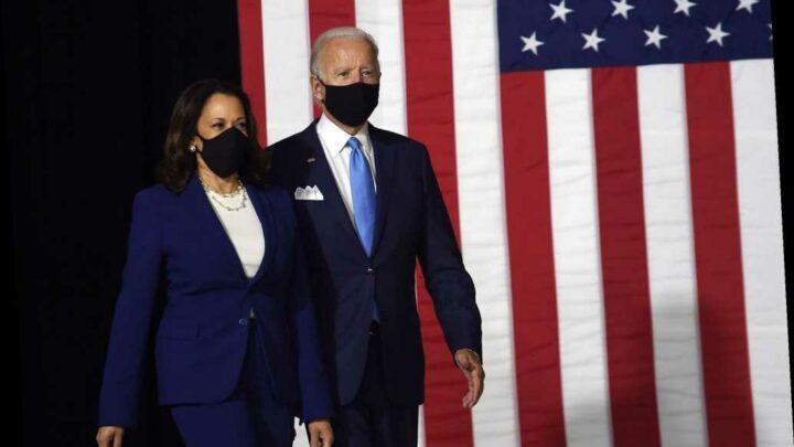 Joe Biden, VP pick Kamala Harris make first public appearance as running mates