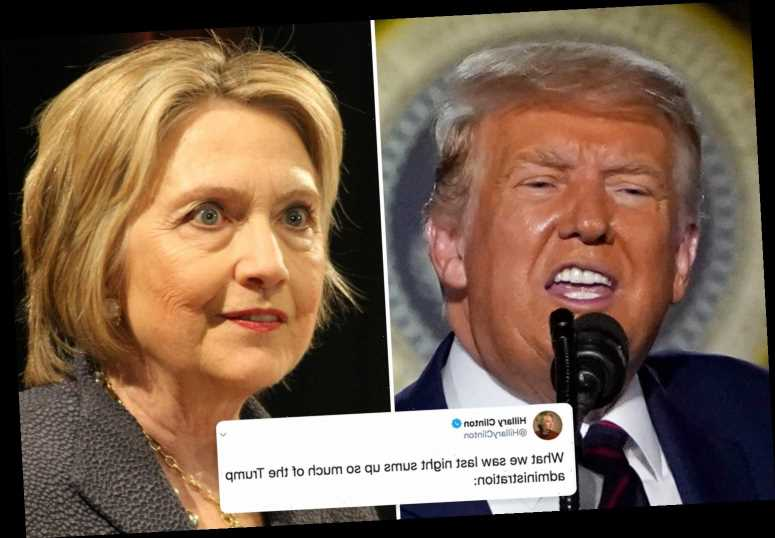 Hillary Clinton claims Donald Trump held 'law-breaking convention' by hosting RNC at White House
