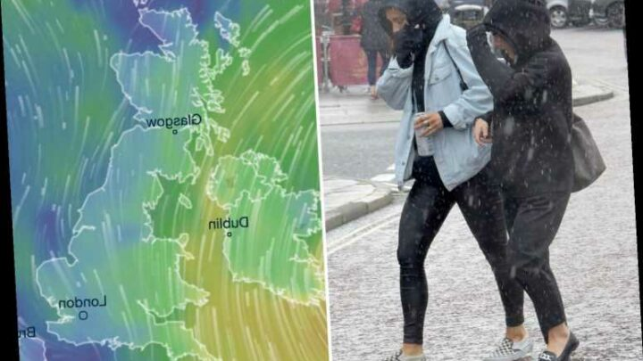 UK weather tomorrow – 70mph winds to batter parts of England and Wales as Met Office issues two-day weather warning