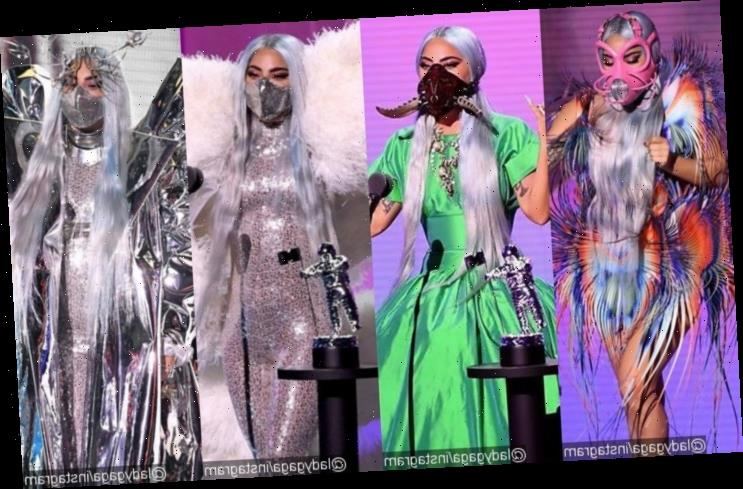 MTV VMAs 2020: Lady GaGa Highlights Importance of COVID-19 Face Mask With Variety of Looks