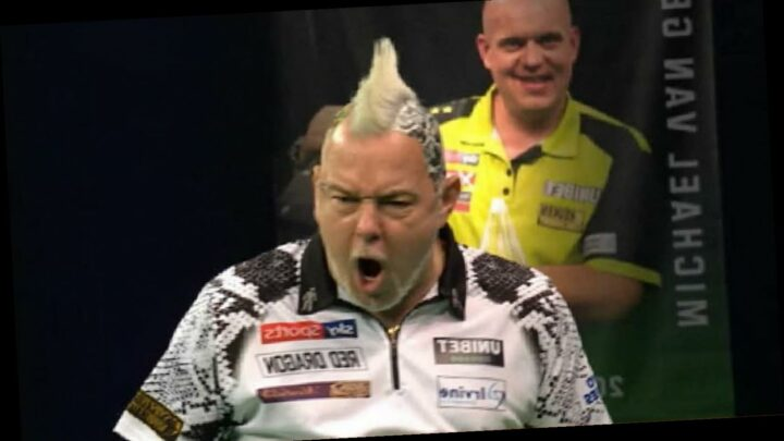 Peter Wright hits nine-darter against Daryl Gurney in Premier League