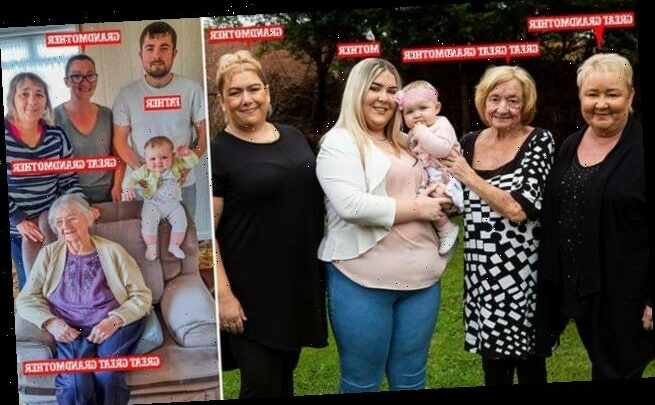 Happy families! Baby girl becomes the FIFTH living generation
