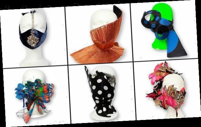 Face masks by designer Ronald van der Kemp could fetch up to £730 each