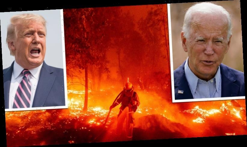 Joe Biden labels Donald Trump a 'climate arsonist' as California burns
