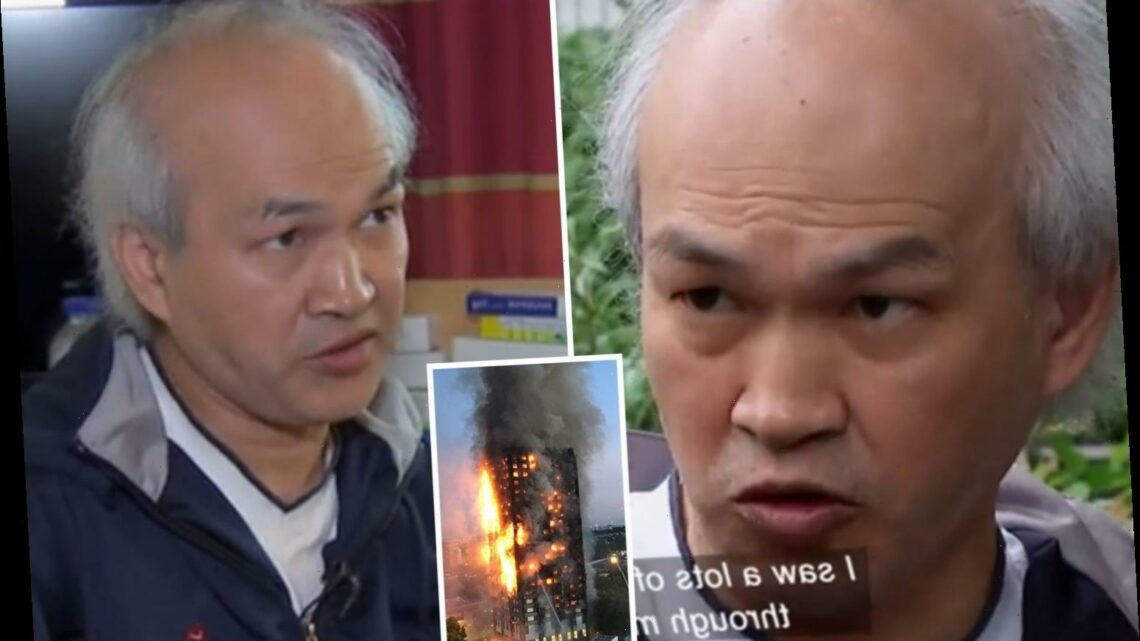 Chilling moment Grenfell fraudster exposed himself with 'dead eye stare' as he lied about family dying in the fire