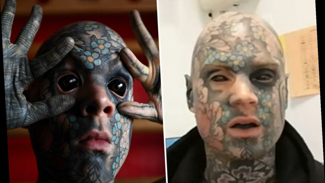 This Morning fans want to vomit as 'terrifying teacher' talks about having his eyeballs tattooed
