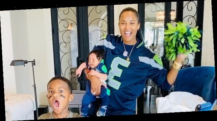 Ciara Dresses Son Win in Football Uniform Ahead of Russell Wilson's Game