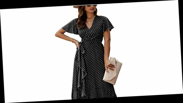 Introducing an Affordable Wrap Dress You Can Wear in Every Season