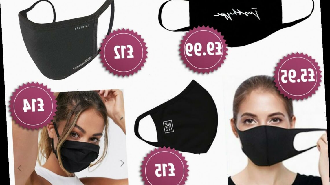 Black face masks – where to buy plain, reusable and washable face coverings