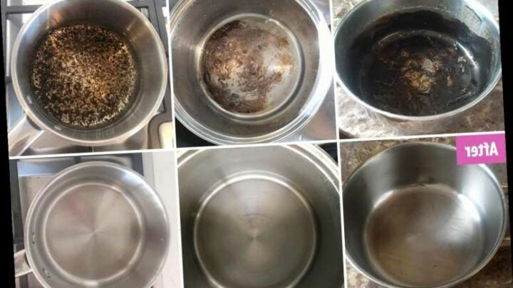 People are using dishwasher tablets to get baked-on grime off their saucepans in minutes & the results are staggering