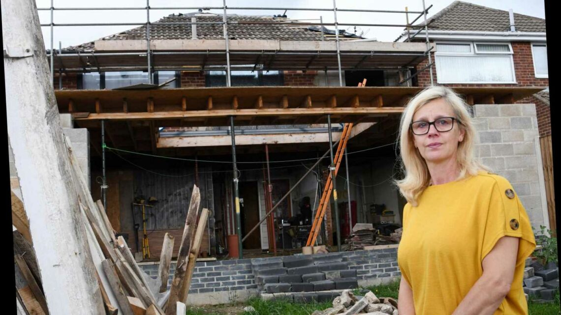 Woman left with no roof or kitchen for seven months after builder fails to finish £46,000 extension
