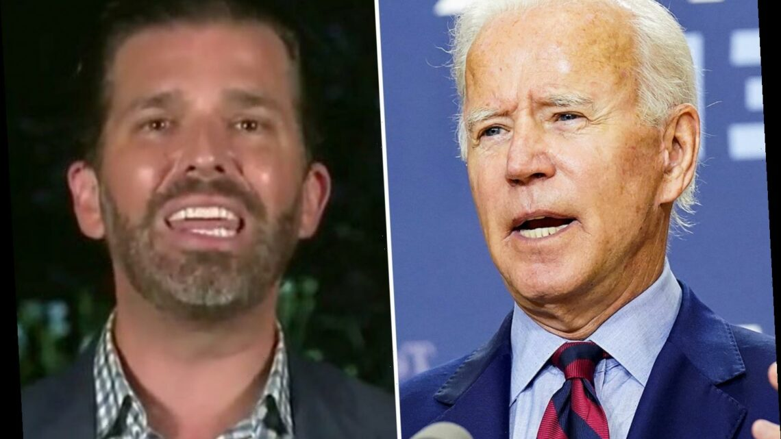 Donald Trump Jr rips Joe Biden for '50 years of failure' and says 'no one has damaged the middle class more than him'
