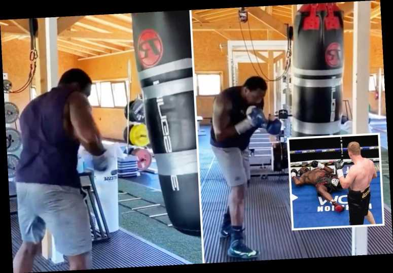 Dillian Whyte shares training video as he aims to avenge shock Alexander Povetkin KO in rematch