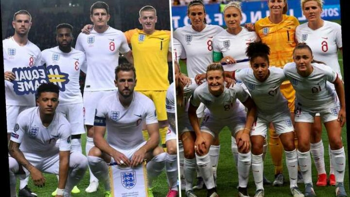 England and Brazil women and men's teams receive same pay including match fees and bonuses
