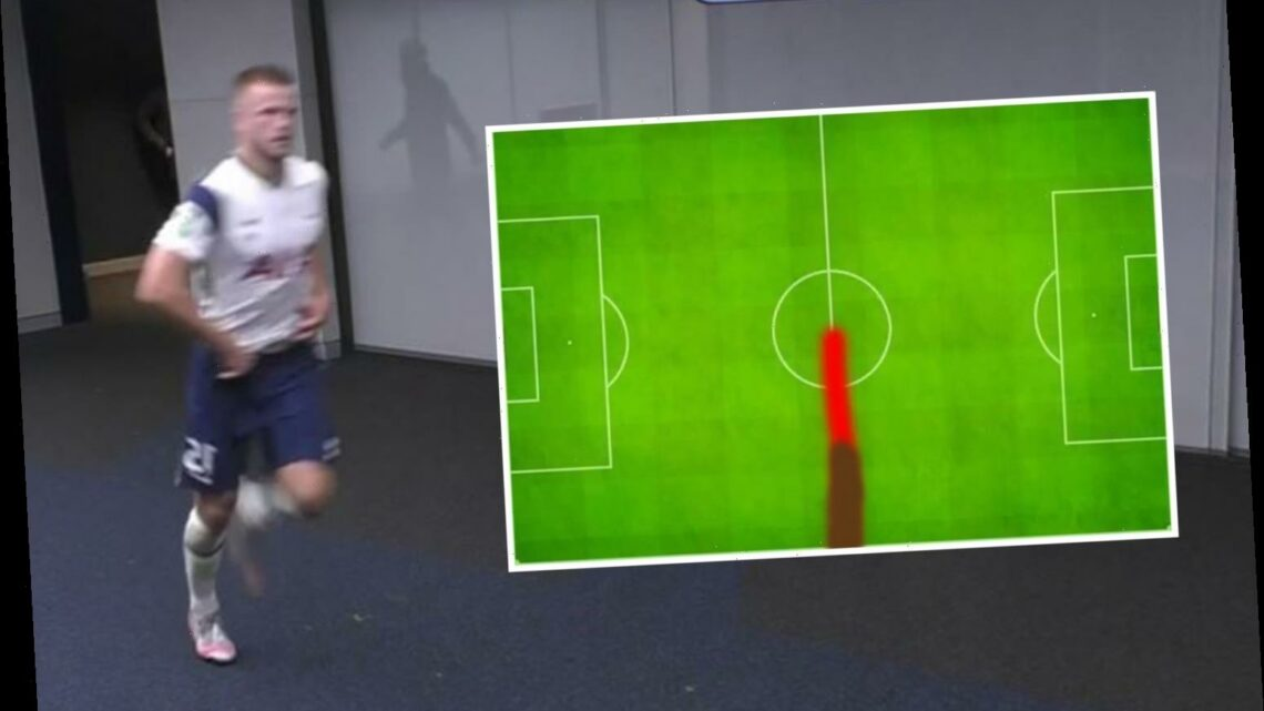 Eric Dier's hilarious heatmap after sprinting off for loo goes viral after Tottenham win over Chelsea