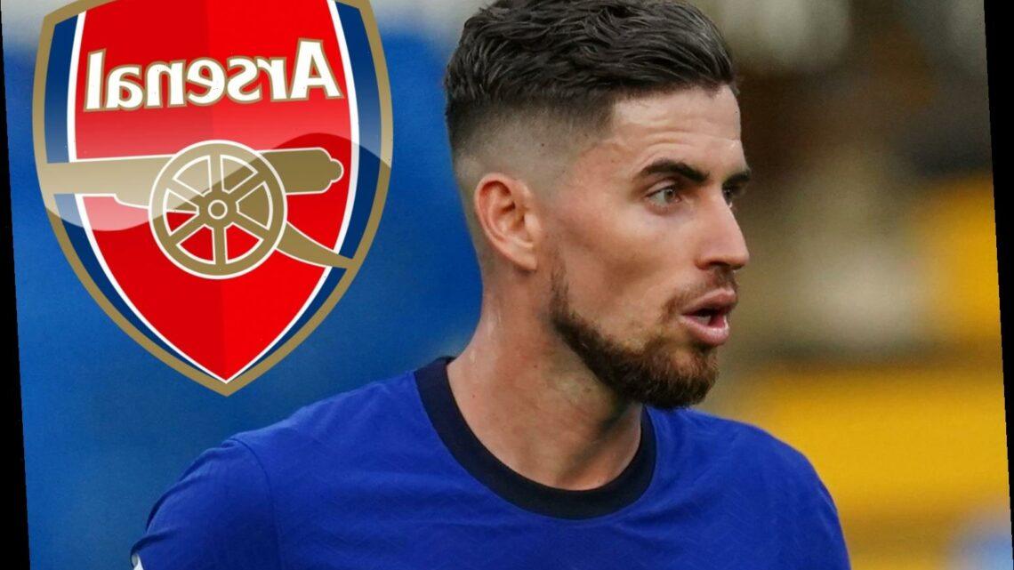 Arsenal eye Chelsea star Jorginho in shock transfer as midfield alternative to Houssem Aouar and Thomas Partey