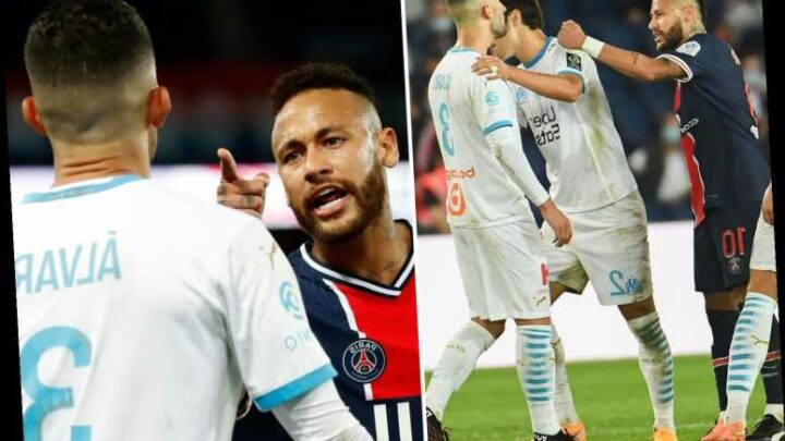 Neymar 'faces SEVEN game ban' for punching Marseille defender Alvaro as PSG support star amid racism row