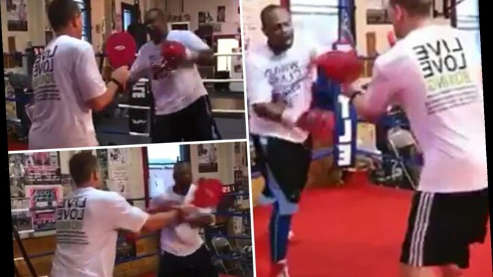 Roy Jones Jr looking sharp on pads aged 51 as boxing legend prepares for Mike Tyson showdown fight