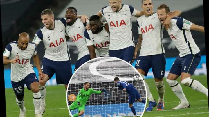 Tottenham 1 Chelsea 1 (5-4 pens): Spurs win dramatic Carabao Cup clash after Mason Mount penalty miss