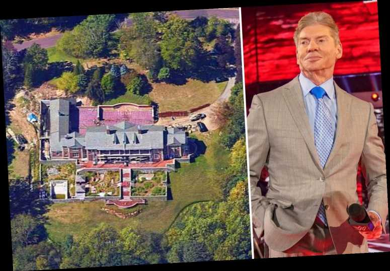 WWE billionaire boss Vince McMahon's £32m mansion which has nine bathrooms, a swimming pool, gym plus a £160k Bentley – The Sun