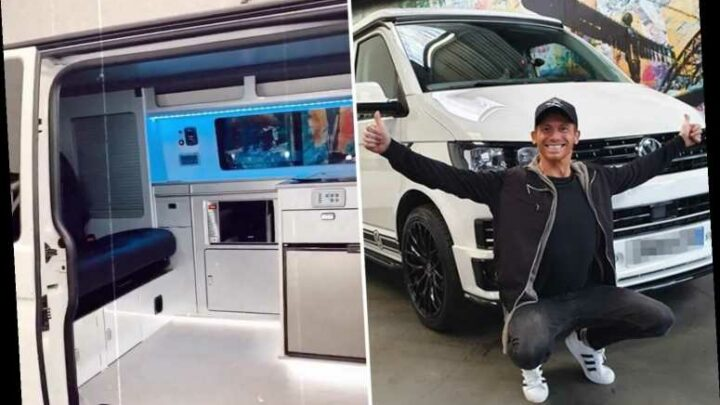 Joe Swash surprises Stacey Solomon as he buys unbelievable £50,000 camper van for the family to 'make memories in'