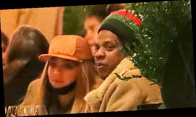 Beyonce & JAY-Z Bundle Up & Leave The Kids At Home For Outdoor Dinner Date In NYC