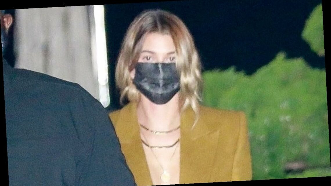 Hailey Bieber Dons Stylish Look for Dinner Date with Justin!
