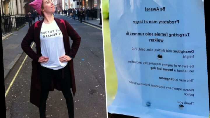 Actress who was out jogging when stranger chased her down a canal after pretending to ask about a lost dog warns others