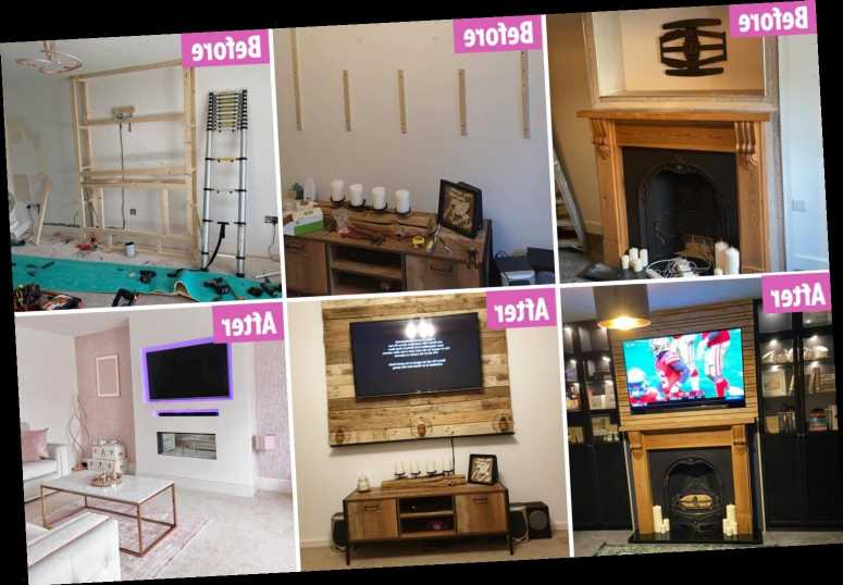 DIY fans are building stunning chimney breasts in their living rooms for their TVs & they say it makes rooms seem BIGGER