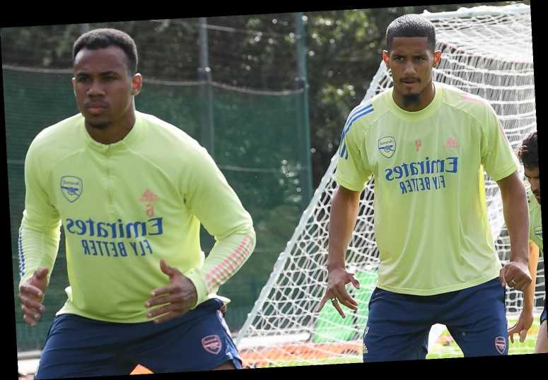 David Luiz huge Arsenal doubt for Fulham clash with neck injury… so Arteta pairs Saliba and Gabriel in training