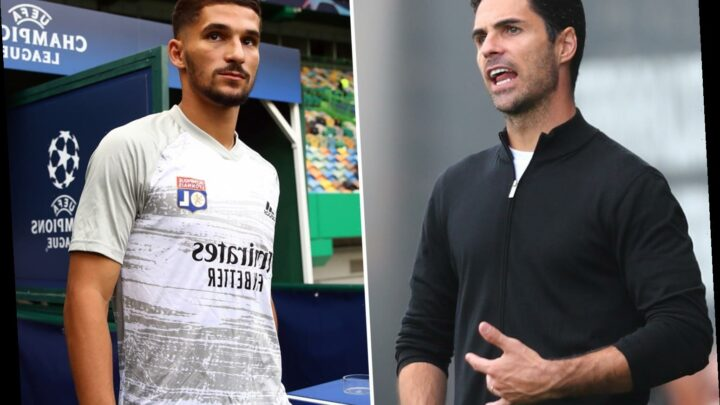 Arsenal boss Mikel Arteta ready to sell THREE first-team stars to finance £36.5m transfer move for Lyon's Houssem Aouar
