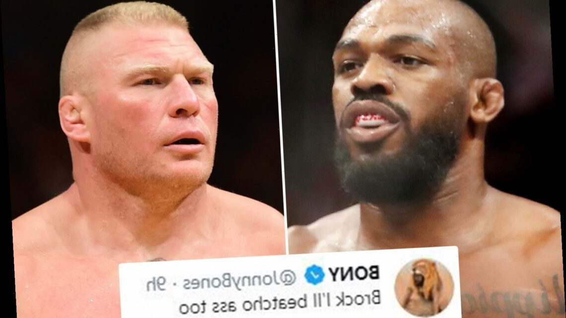 UFC legend Jon Jones calls out Brock Lesnar for fight after quitting WWE and threatens 'I'll beatcha ass too'