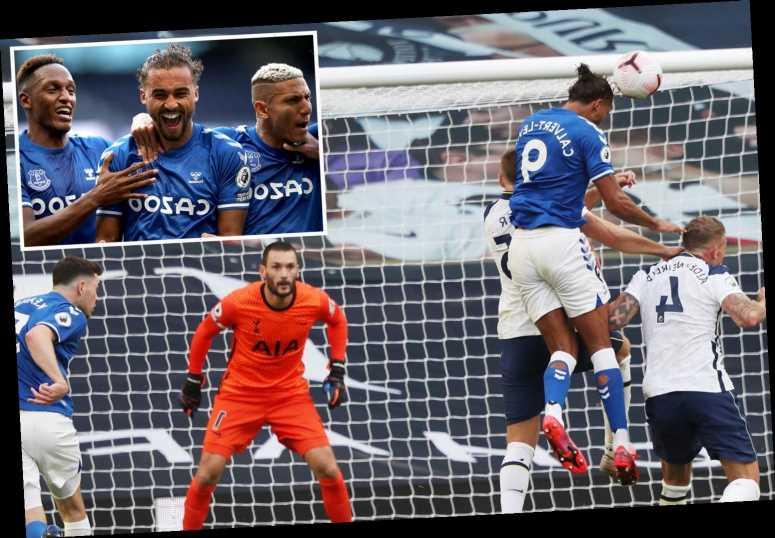 Everton beat dreadful Tottenham convincingly thanks to Dominic Calvert-Lewin's header and a James Rodriguez masterclass