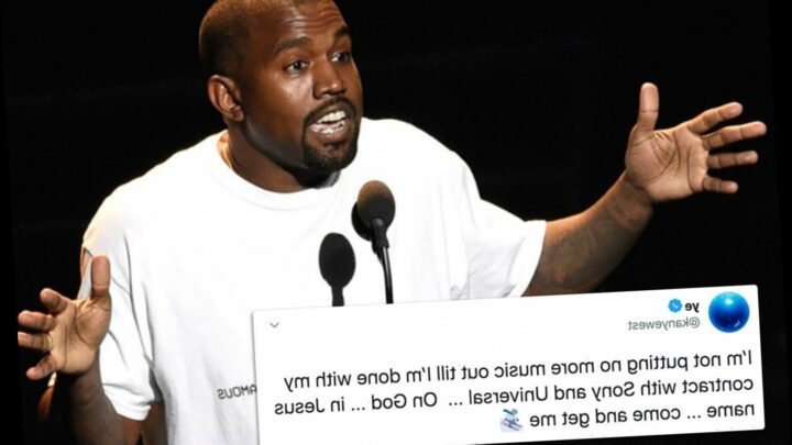 Kanye West says 'come and get me' after announcing 'he's done' making music until contract with Sony and Universal is up